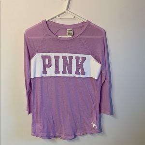 PINK Lavender/Violet XS Long Sleeve Top in EUC